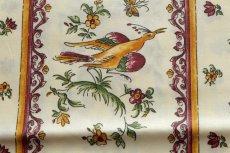 画像14: 「即納J/即納F」はぎれ80x50:撥水加工 ムスティエ(プロヴァンス、鳥、赤) /90g (14)