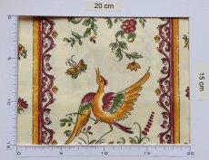 画像4: 「即納J/即納F」はぎれ80x50:撥水加工 ムスティエ(プロヴァンス、鳥、赤) /90g (4)