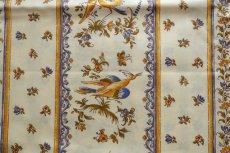 画像8: 「即納J」はぎれ80x50:撥水加工 ムスティエ(プロヴァンス、鳥、ブルー)/90g (8)