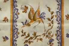 画像9: 「即納J」はぎれ80x50:撥水加工 ムスティエ(プロヴァンス、鳥、ブルー)/90g (9)