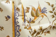 画像13: 「即納J」はぎれ80x50:撥水加工 ムスティエ(プロヴァンス、鳥、ブルー)/90g (13)