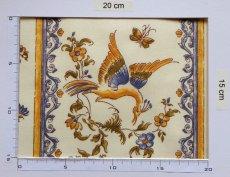 画像3: 「即納J」はぎれ80x50:撥水加工 ムスティエ(プロヴァンス、鳥、ブルー)/90g (3)