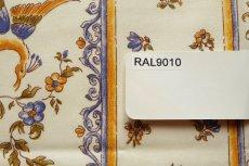画像5: 「即納J」はぎれ80x50:撥水加工 ムスティエ(プロヴァンス、鳥、ブルー)/90g (5)