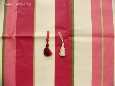 画像1: 「取寄せ」布:撥水加工リズム(ピンク)長さ50cm単位 /180g
