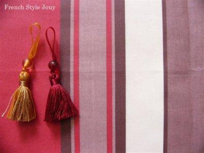 画像1: 「取寄せ」布:撥水加工テンダンス(ブラウン・赤)長さ50cm単位 /180g