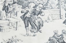 画像16: 「F在庫」はぎれ70×50:STOF村人の踊り(黒) /90g (16)