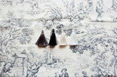 画像17: 「F在庫」はぎれ70×50:STOF村人の踊り(黒) /90g (17)