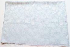 画像2: 「即納F」はぎれ80×50:ジャカード・フルール(パステルターコイズ) /110g (2)