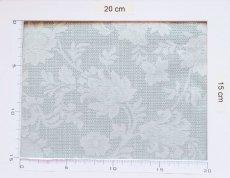 画像4: 「即納F」はぎれ80×50:ジャカード・フルール(パステルターコイズ) /110g (4)