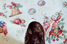 画像7: 「F在庫」はぎれ70x50:ゴブラン織り オーナメント・ノエル(クリームベース)/155g (7)