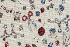 画像10: 「F在庫」はぎれ70x50:ゴブラン織り ミシン&メルスリー(ナチュラルベース)/155g (10)