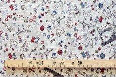 画像3: 「F在庫」はぎれ70x50:ゴブラン織り ミシン&メルスリー(ナチュラルベース)/155g (3)