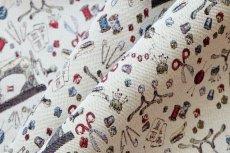 画像7: 「F在庫」はぎれ70x50:ゴブラン織り ミシン&メルスリー(ナチュラルベース)/155g (7)