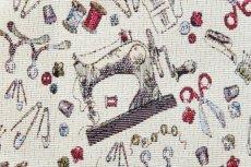 画像13: 「F在庫」はぎれ70x50:ゴブラン織り ミシン&メルスリー(ナチュラルベース)/155g (13)