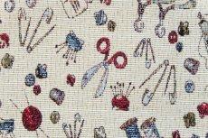 画像14: 「F在庫」はぎれ70x50:ゴブラン織り ミシン&メルスリー(ナチュラルベース)/155g (14)