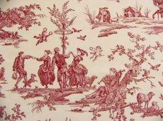 画像14: 「取寄せ」布:復刻版tdj四季の喜び(トワル、白ベース赤)長さ50cm単位 /160g (14)