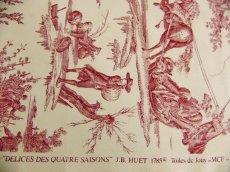 画像13: 「取寄せ」布:復刻版tdj四季の喜び(トワル、白ベース赤)長さ50cm単位 /160g (13)