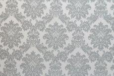 画像2: 「F在庫」はぎれ70×50:リシュリュー(ダマスク、2色グレイ) (2)