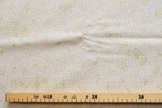 画像3: 「J即納」はぎれ70x50:金色のミュージック・ノート(ベージュベースゴールド)/90g (3)