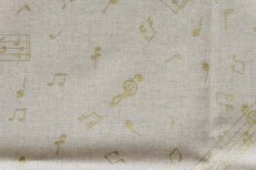 画像10: 「J即納」はぎれ70x50:金色のミュージック・ノート(ベージュベースゴールド)/90g (10)
