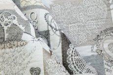 画像5: 「F在庫」はぎれ70x50:ゴブラン織り ハートのレース(グレイ)/140g (5)