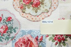 画像16: 「J即納」はぎれ70x50:ゴブラン織り ブーケ・レター(ライトアイボリーベース赤)/175g (16)