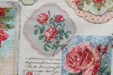 画像9: 「J即納」はぎれ70x50:ゴブラン織り ブーケ・レター(ライトアイボリーベース赤)/175g (9)