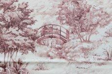 画像10: 「F在庫」はぎれ70×50:NARA(ホワイトベースボルドー) /95g (10)