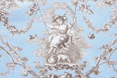 画像14: 「即納F」布:ブランコに乗った少女(水色ベースブラウン)140×200cm /760g (14)