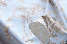 画像6: 「即納F」布:ブランコに乗った少女(水色ベースブラウン)140×200cm /760g (6)