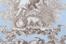画像15: 「即納F」布:ブランコに乗った少女(水色ベースブラウン)140×200cm /760g (15)