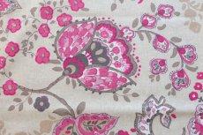 画像11: 「即納J」はぎれ70×48:ペルゼ風花柄(ベージュベース、ピンク)/105g (11)