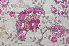 画像14: 「即納J」はぎれ70×48:ペルゼ風花柄(ベージュベース、ピンク)/105g (14)