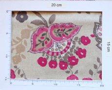画像4: 「即納J」はぎれ70×48:ペルゼ風花柄(ベージュベース、ピンク)/105g (4)