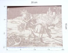 画像2: 「即納F」布:水の物語(ベージュベース) /380g (2)