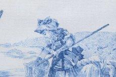 画像6: 「即納F」布:水の物語(白ベースブルー)140×200cm /760g (6)