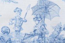 画像8: 「即納J/F」はぎれ70×50:水の物語(白ベースブルー) /95g (8)