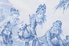 画像8: 「即納F」布:水の物語(白ベースブルー)140×200cm /760g (8)