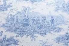 画像9: 「即納F」布:水の物語(白ベースブルー)140×200cm /760g (9)