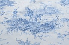 画像10: 「即納F」布:水の物語(白ベースブルー)140×200cm /760g (10)