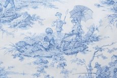 画像11: 「即納F」布:水の物語(白ベースブルー)140×200cm /760g (11)