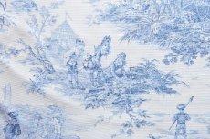 画像12: 「即納F」布:水の物語(白ベースブルー)140×200cm /760g (12)