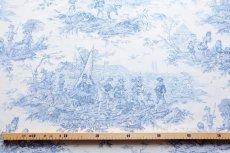画像2: 「即納F」布:水の物語(白ベースブルー)140×200cm /760g (2)