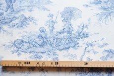 画像3: 「即納F」布:水の物語(白ベースブルー)140×200cm /760g (3)