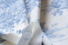 画像13: 「即納F」布:水の物語(白ベースブルー)140×200cm /760g (13)