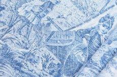 画像14: 「即納F」布:水の物語(白ベースブルー)140×200cm /760g (14)