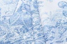 画像15: 「即納F」布:水の物語(白ベースブルー)140×200cm /760g (15)