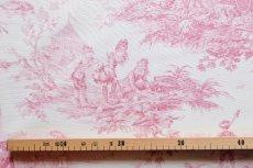 画像2: 「即納J」はぎれ70×50:水の物語(白ベースボルドー) /95g (2)
