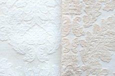 画像15: 「即納J」はぎれ70×50:ダマスク(シュニーユ、ジャカード、ホワイト)/105g (15)