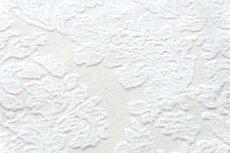 画像11: 「即納J」はぎれ70×50:ダマスク(シュニーユ、ジャカード、ホワイト)/105g (11)
